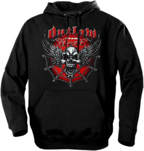 Hoodie Outlaw biker hoodies quot outlaw from hell quot biker hoodie