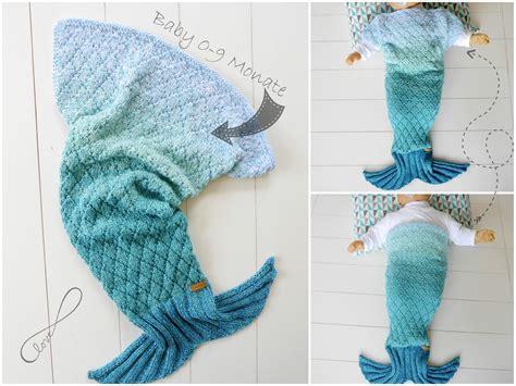 Meerjungfrauen Decke Anleitung Stricken by Babydecke Meerjungfrau Selbst Stricken F 252 R Anf 228 Nger