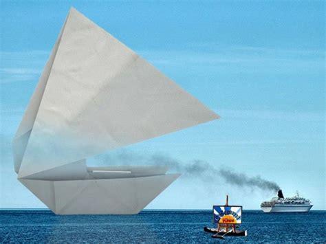 Origami Catamaran - origami catamaran by maarten gelder origami