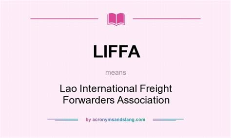 liffa lao international freight forwarders association