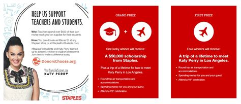 Staples For Students Sweepstakes - staplesforstudents sweepstakes enter to win a 50k scholarship plus meet katy perry