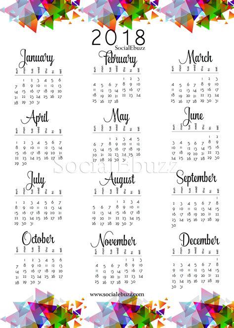 2018 Printable Calendar Canada 2018 Calendar Canada Free Blank Calendar 2018 Canada