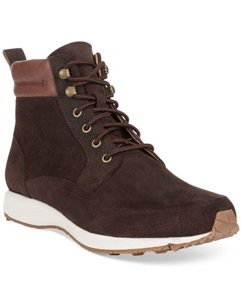 cole haan s boots cole haan branson sneaker boots in brown for lyst