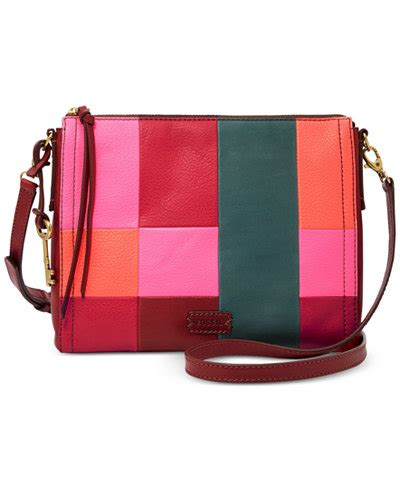 Fossil Patchwork Crossbody - fossil patchwork crossbody handbags accessories