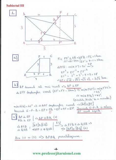 en viii  model rezolvat  simulare matematica evaluarea nationala  clasa