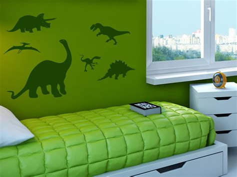Wandtattoo Kinderzimmer Junge Dinosaurier by Wandtattoo Dinosaurier 6er Set T Rex Co Wandtattoo