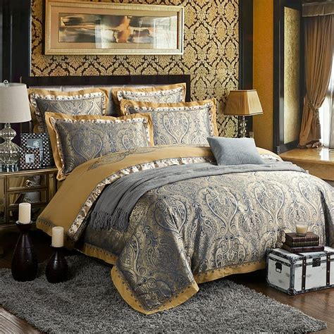 bedding king size zangge bedding luxury satin jacquard paisley bedding sets