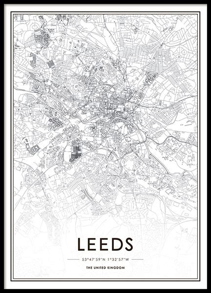 poster design leeds print with a map of leeds posters with maps and cities