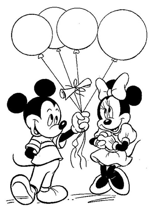 mickey mouse balloon coloring pages mickey flies with balloons coloring page boys pages of