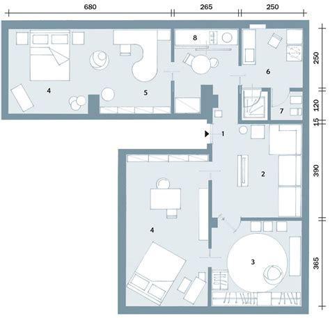 pianta casa unifamiliare trilocale di 96 mq recupero creativo per la mansarda