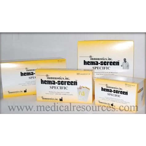 Ifob Stool Test by Immunostics Hema Screen Immunochemical Fecal Occult Blood