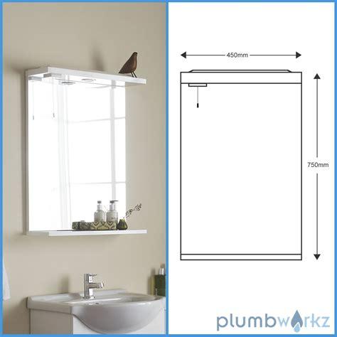 Bathroom Mirror Unit Vanity Unit Basin Mirror Lights Gloss White Modern Bathroom Mirror Ebay