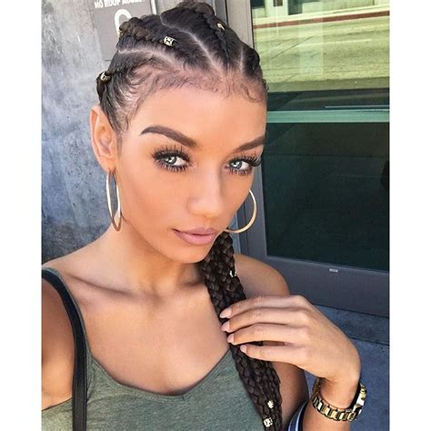 Straight Back French Braids For Black Women Hairstyle For