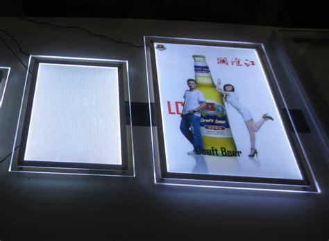 ultra thin light box crystal frame led edge lit advertising panel light box