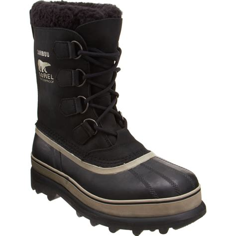 sorel caribou snow boot in black for lyst