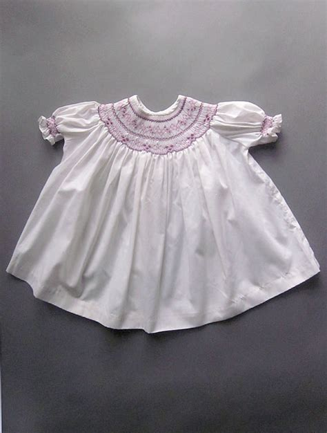 Handmade Smocked Dresses - vintage smocked baby dress with embroidery handmade baby