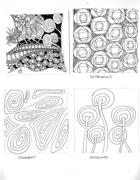 zentangle pattern library 17 best images about sedgling on pinterest zentangle