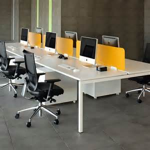 Desk Home Office Furniture by Nova 4 Person Bench Desk Meridian Office Furniture