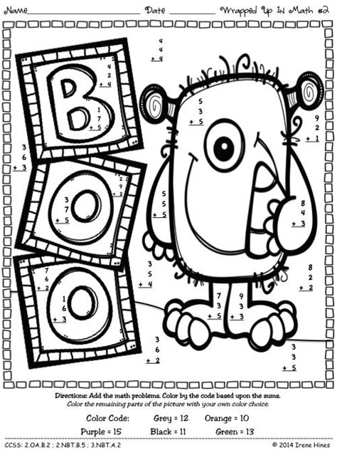 halloween coloring pages math number code maths puzzles and color by numbers on pinterest