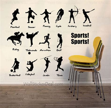 sport wall stickers collective sports wall sticker wallstickerdealcom