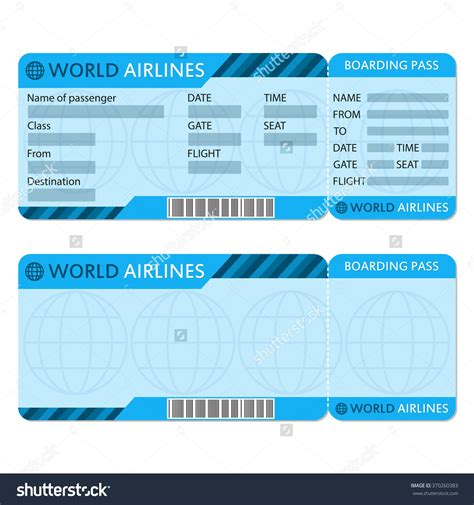 airline ticket template word exle mughals