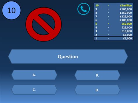 who wants to be a millionaire blank template powerpoint millionaire template in by uk teaching resources