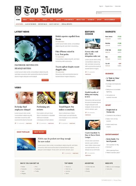 news portal joomla template 37497