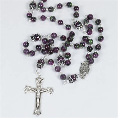 Handmade Rosaries - rubyzoisite rosary rosaries and chaplets by sue