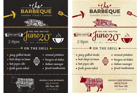 flyer announcement template 15 bbq flyer template psd eps and ai format