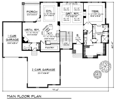 home plans homepw76585 3 677 square feet 4 bedroom 3 house plan 70 677 houseplans com