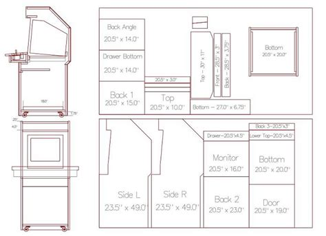 How To Read Cabinet Blueprints by Kdpn Description Arcade Machine Cabinet Plans