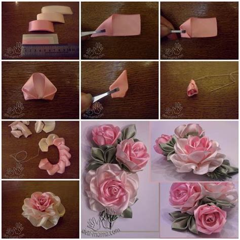 tutorial reben organza diy beautiful satin ribbon rosette