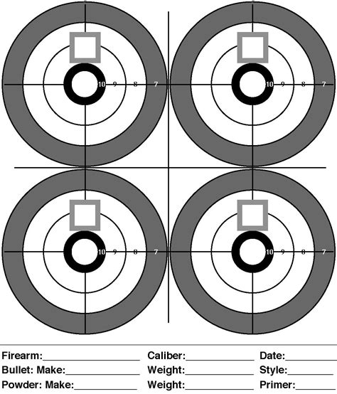 printable free rifle targets printable targets for shooting practice midway pistol