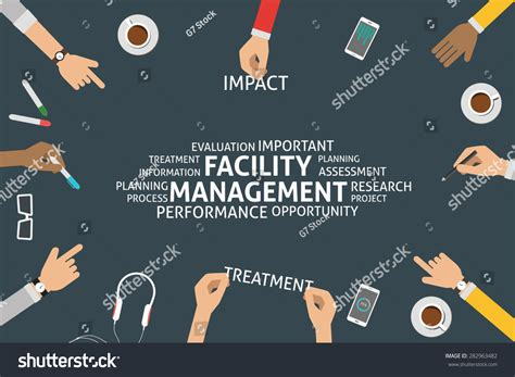 Vector Facility Management Concepttemplate Stock Vector 282963482 Shutterstock Facility Management Website Templates