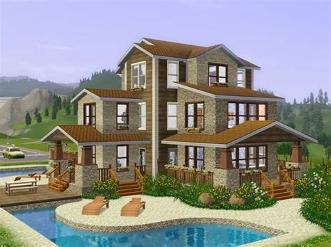 Sims 3 House Plans Mansion Sims 3 House Sims 3 Content House Plans The Sims And Decks