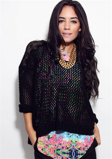 knit mesh sweater pattern black mesh knit sweater furor moda tops dresses