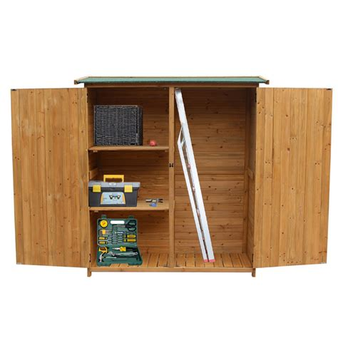 wooden storage shed garden outdoor fir wood lockers