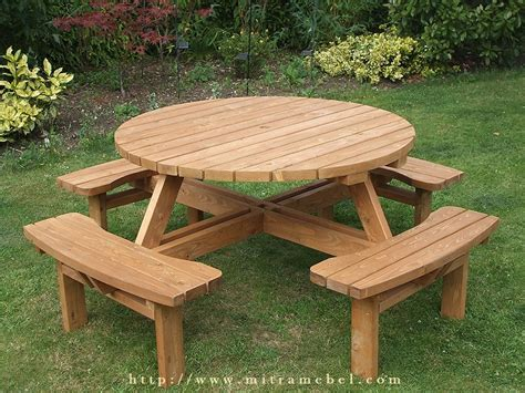 Meja Kayu Bundar meja kursi bundar outdoor kayu jati mitra mebel jepara mebel jepara berkualitas mebel