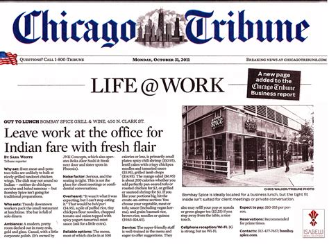 chicago tribune food section chicago tribune october 2011 imr isabelli media