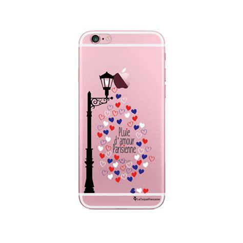 coque iphone 6 plus 6s plus rigide transparente pluie d amour parisienne la coque