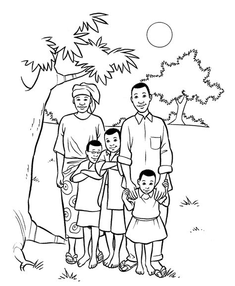 family coloring pages family 31 characters printable coloring pages
