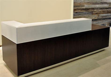 reclaimed wood reception desk custom designs arnold contract