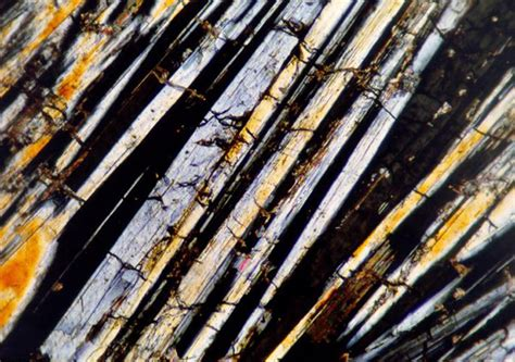 Wollastonite Thin Section by Mineral Microphotographs Computer Vision