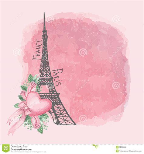 imagenes vintage de la torre eiffel tarjeta del vintage de par 237 s torre eiffel rosa de la