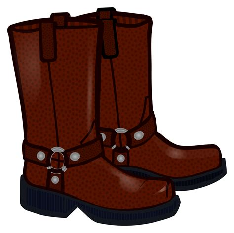 clipart boots coloured