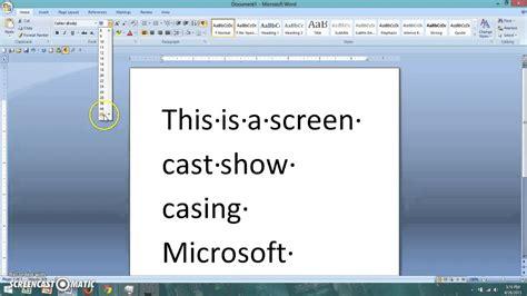 screen layout microsoft word 2010 microsoft word screen cast youtube