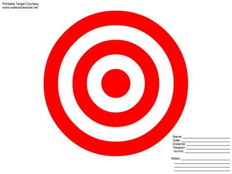 printable large rifle targets printable shooting target new calendar template site