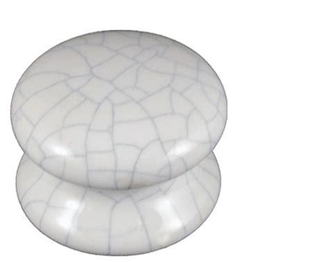 Crackle Glaze Door Knobs by Fingertip Porcelain Cupboard Knobs 37mm Or 46mm