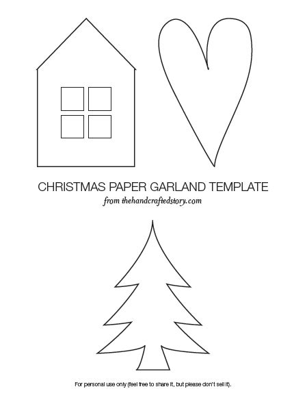 Paper Garland Christmas Templates Festival Collections Garland Template