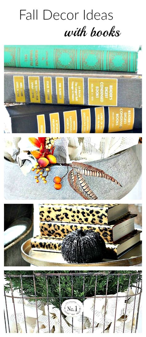 Fall Decorations For The Home Fall Decor Ideas With Books The House Of Silver Lining